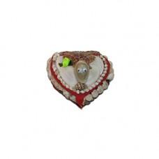 Шкатулка сердечком с зеркалом маленькая