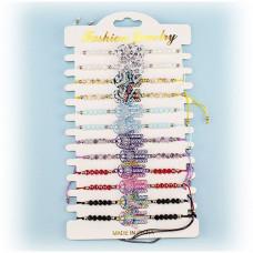 19-65-14 браслет разноцветные бусины + резная фигура рука ...
