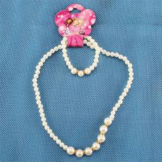 43-16 набор детский ожерелье+браслет, жемчужный
