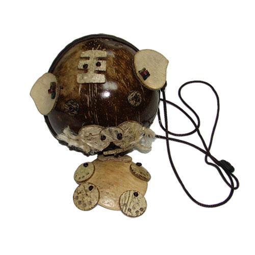 BB7 Сумочка с аппликацией  из кокоса
