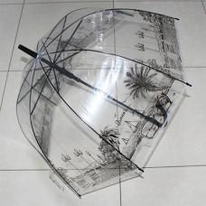 UT7 Зонт-трость прозрачный купольный