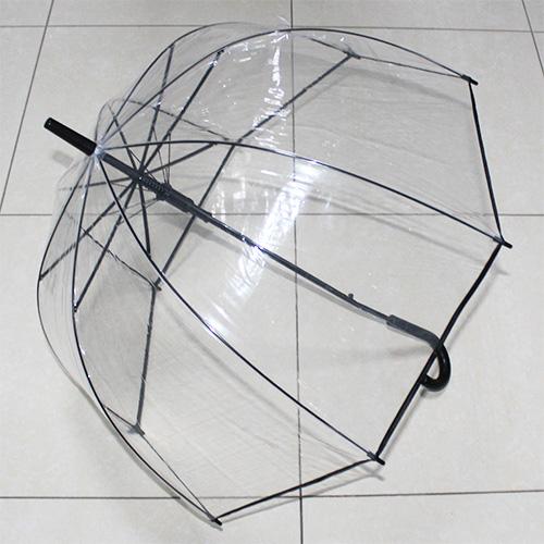 U105 Зонт-трость прозрачный купольный