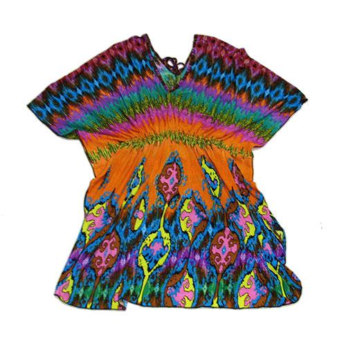 103-2 Туника женская с цветным принтом