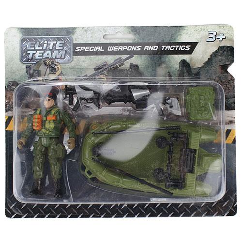 1710Y327-R Н-р солд. с мотоц. и оруж. Elite Team, блис. / 72 шт.