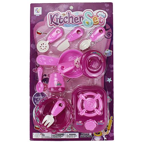B1655870-1 Игрушка Набор посуды на блист фиолетовый в кор....