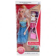 B1679905 Игрушка кукла с собачкой и сумкой в коробке в ассорт. в кор. 120 шт.