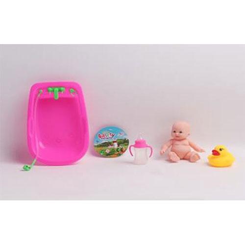 B1433784-1 Игрушка пупс в роз ванной в сетке  в ассорт. в ...