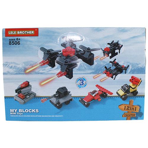 BRICK-1233-1236 Констр. блок. Автотранспорт, 6 вид.  дис. ...