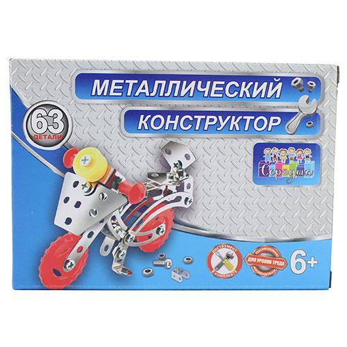 8808 Констр. мет. Мотоцикл, 63 дет. / 96 шт.