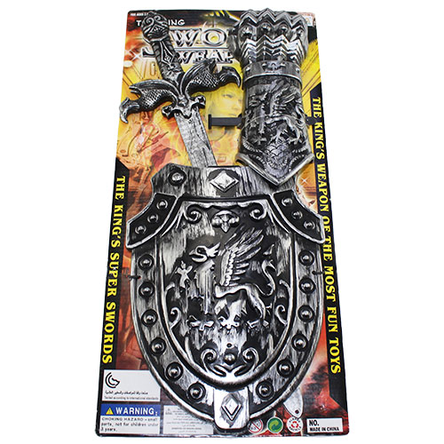 B1640334 Н-р оруж. (меч + щит + перчатка) на карт. / 48 шт...