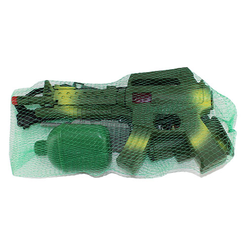 B1643345 Н-р оруж. автомат с каской + аксесс. в сетке / 72...