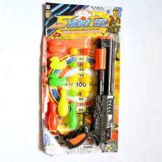 6039 Н-р оруж SHOOTER ружье +шарики+кегли+утки/180 шт.