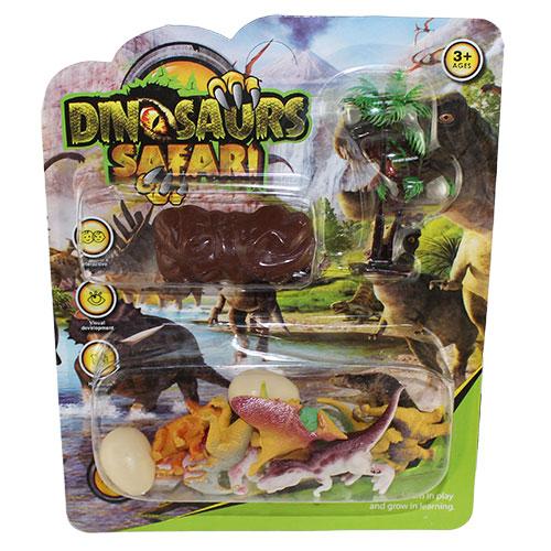 B1167342-R Н-р диноз-в. на карт. Dinosaur safari / 192 шт.