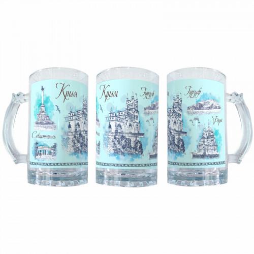 BEER-6 Крым, пивной бокал из стекла