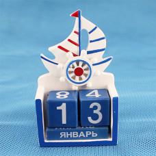 CD19-11 Календарь с кораблем и штурвалом, 96 шт