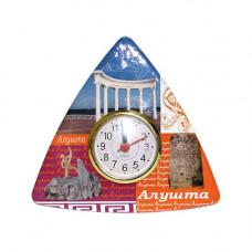 UK327 Алушта.Будильник треугольный керамический