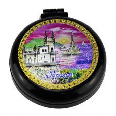HX-BLACK-3-F расческа Крым ЮБК складная с зеркалом черная
