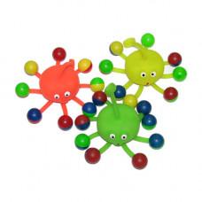 2854-1 Мяч латекс, светящийся, Йо-Йо.4,5см