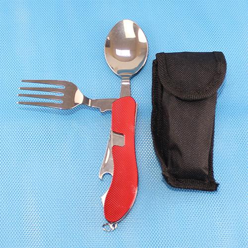 5007-R Нож двойной красный в чехле